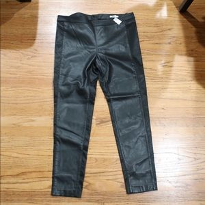 H&M Poly Leather Skinny Pants